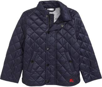 Burberry Mini Lyle Diamond Quilted Jacket