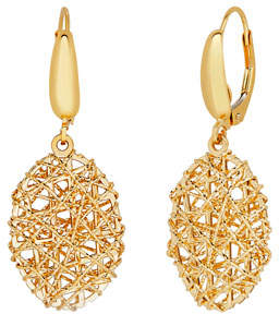 Milani Alberto 18K Gold Mesh Oval Drop Earrings