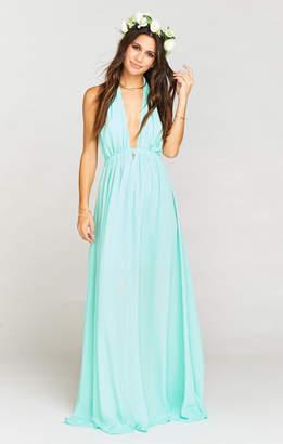 Show Me Your Mumu Luna Halter Dress ~ Sea Glass Crisp