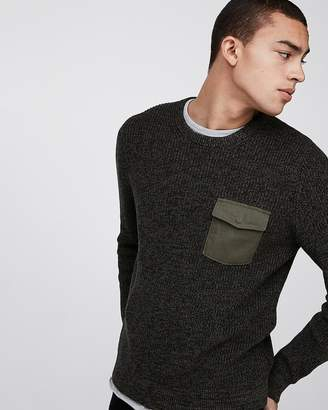 Express Marled Pocket Cotton Sweater