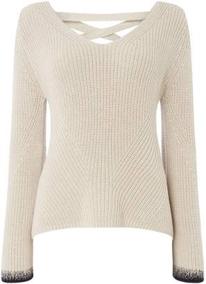 Oui Lace up back jumper