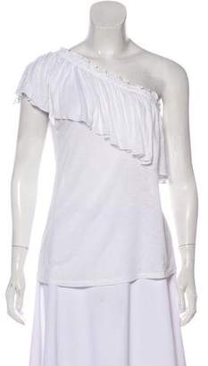 Rebecca Taylor Ruffled One-Shoulder Top w/ Tags