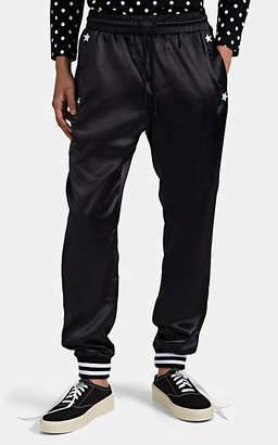 Barneys New York HOTEL 1171 x Men's Embroidered Satin Track Pants - Black