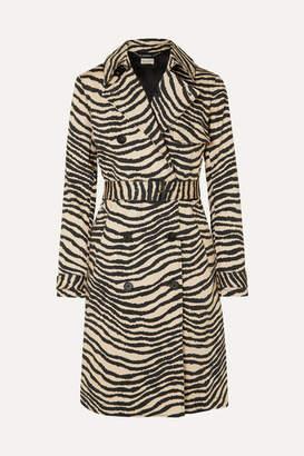 By Malene Birger Rainie Zebra-print Belted Cotton-gabardine Trench Coat - Zebra print