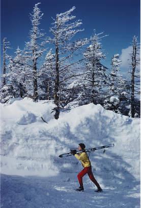 "Jonathan Adler Slim Aarons ""Skier in Vermont"" Photograph"