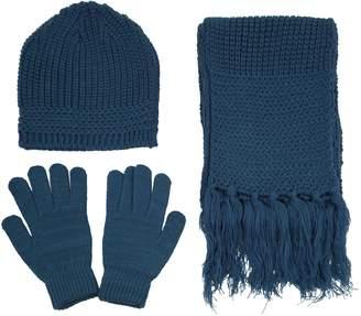 Simplicity Men Women Knit Winter Ski Set - Beanie, Gloves and Scarf