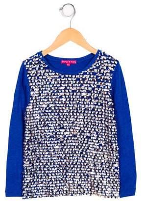 Derhy Kids Girls' Embellished Long Sleeve Top