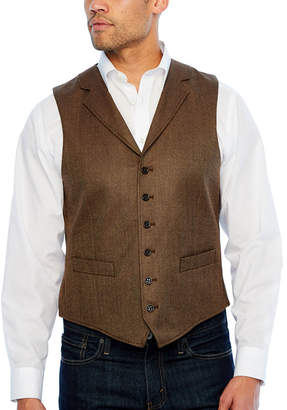 STAFFORD Stafford Merino Stretch Brown Donegal Classic Fit Suit Vest