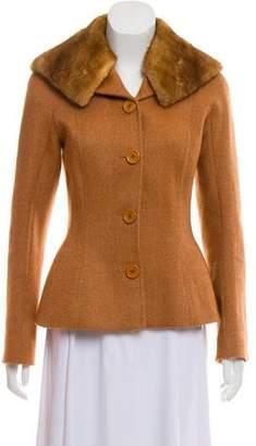 Christian Dior Fur-Trimmed Jacket