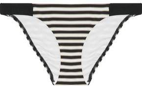 Jets Australia By Jessika Allen Striped Low-Rise Bikini Briefs