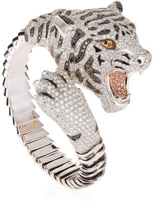 Roberto Coin 18k Gold Diamond Pave Tiger Bangle
