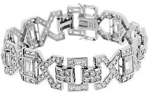 Diamonique TOVA for Wedding Bracelet, Sterling