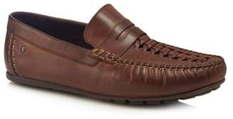 Base London Brown Leather 'Palmer' Loafers