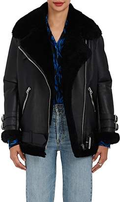 Acne Studios Women's Velocite Leather Oversized Jacket