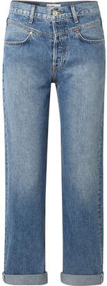 RE/DONE Double Yoke High-rise Straight-leg Jeans - Mid denim