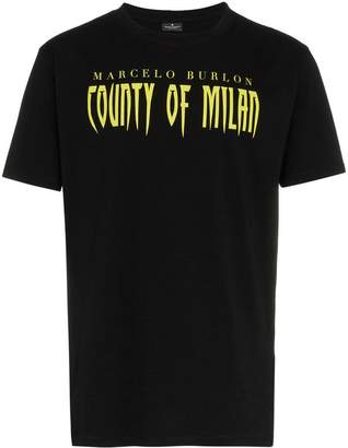 Marcelo Burlon County of Milan Sleepwalker print cotton t shirt