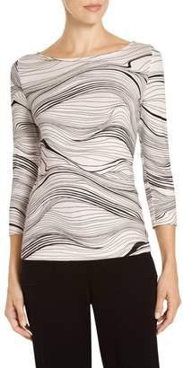 St. John Brush Stroke Print Sleeve T-Shirt