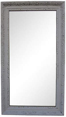 One Kings Lane Vintage Large French Gray Mirror - Cliffe's Edge Antiques