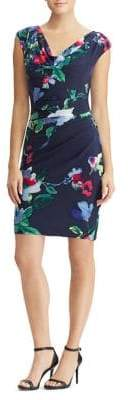 Lauren Ralph Lauren Floral Cap-Sleeve Sheath Dress