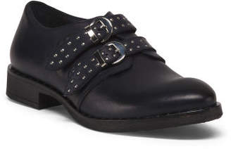 Made In Italy Studded Leather Loafers