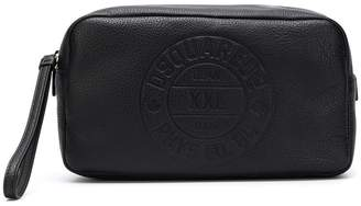 DSQUARED2 logo stamp pebbled wash bag