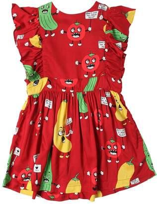 Mini Rodini Vegetable Print Modal Dress