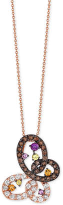 LeVian Le Vian Multi-Gemstone (1-7/8 ct. t.w.) Pendant Necklace in 14k Rose Gold