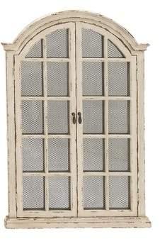 Cole & Grey Wood Door Wall Mirror Cabinet