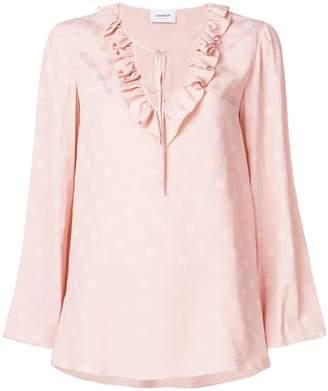 Dondup polka dot frill blouse