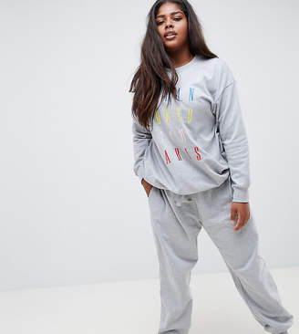 Asos DESIGN Curve Lounge city oversized joggers