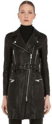 Belstaff Marvingt Leather Biker Coat