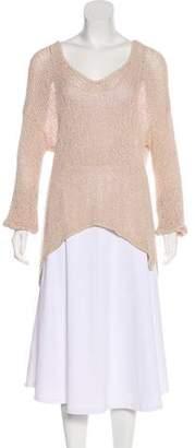 Helmut Lang Crochet Scoop Neck Sweater