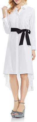 Vince Camuto High/Low Belted Shirt Dress