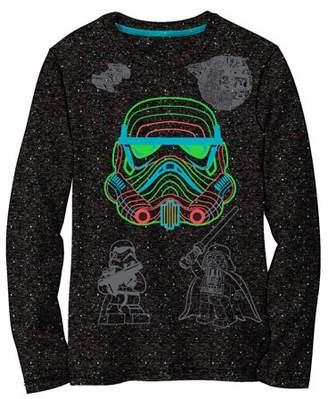 Star Wars Boys' Storm Trooper Black Long Sleeve Graphic Tee