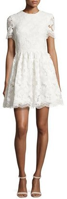 Alice + Olivia Karen Floral Lace Party Dress, Off White $495 thestylecure.com