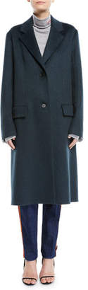 Calvin Klein Slim Notched-Collar Two-Button Cashmere Coat