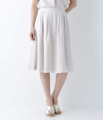 NEWYORKER women's リネンライク タックミディスカート(セットアップ)