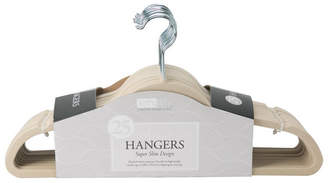 Simplify 25 Pack Slim Velvet Suit Hangers in Ivory