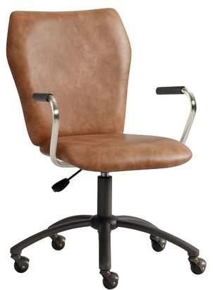 Pottery Barn Teen Cognac Faux-Leather Airgo Desk Chair, Armchair