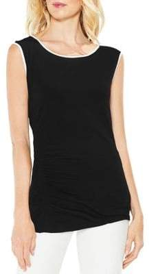 Vince Camuto Extend Shoulder Asymmetrical Side Ruched Top