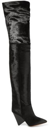 Isabel Marant Calf Hair Thigh Boots