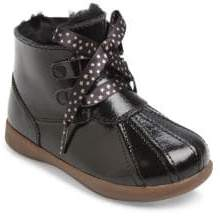 UGG Girl's Comfort Payten Stars Patent Leather& Shearling Booties