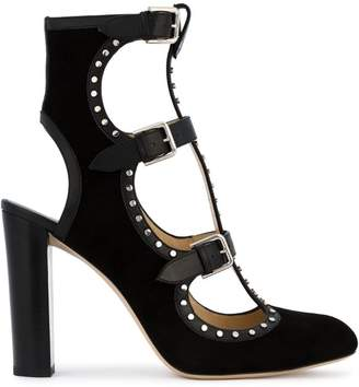 Jimmy Choo Black Hainsley 100 Suede Boots
