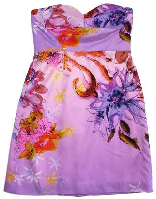 Ali Ro Purple Floral Print Silk Strapless Dress $78.99 thestylecure.com