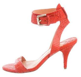 Isa Tapia SnakeSkin Ankle Strap Sandals