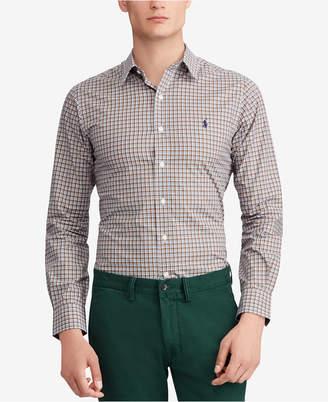 Polo Ralph Lauren Men's Slim Fit Plaid Cotton Poplin Shirt