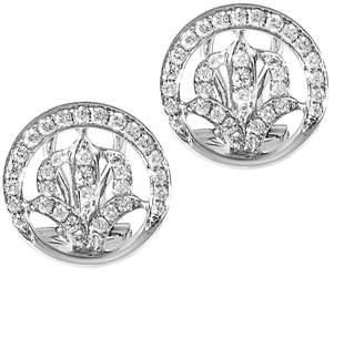 Diamond Select Cuts 18K 0.32 Ct. Tw. Diamond Flower Stud Earrings