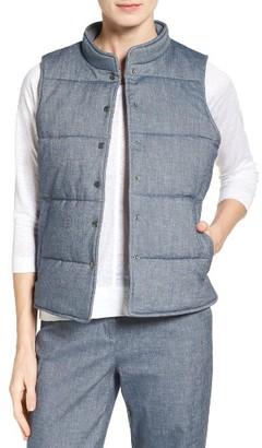 Women's Nordstrom Collection Melange Cotton Blend Quilted Vest $249 thestylecure.com