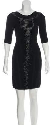 Herve Leger Embellished Mini Dress