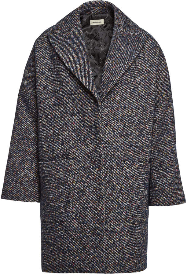 Mika Fantaisie Coat with Wool, Mohair and Alpaca